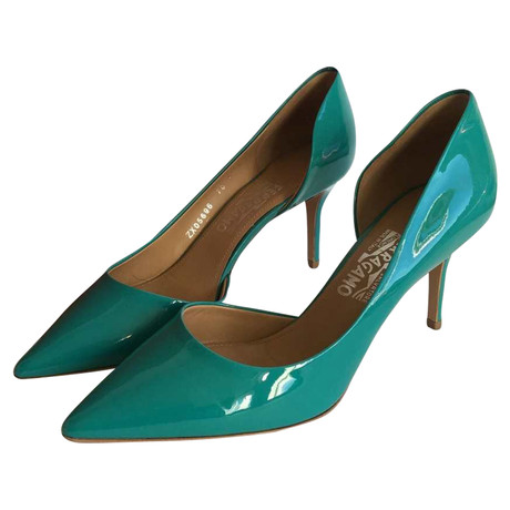 Salvatore Ferragamo Pumps T眉rkis