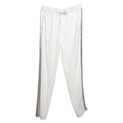 Sandro Pants in White / Silver