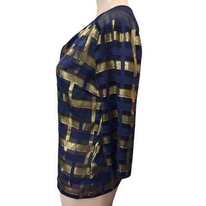 Patrizia Pepe Blouse shirt met geruit patroon