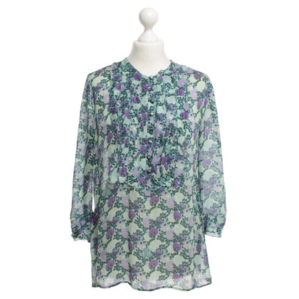 Roberto Cavalli Silk blouse with floral print