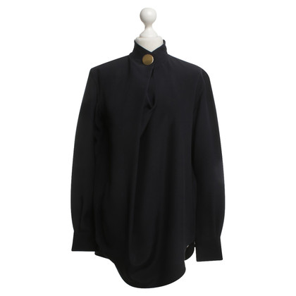 Céline Silk blouse in dark blue
