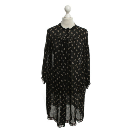 Anna Sui Black dress with floral motif