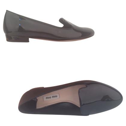 Miu Miu Patent leather slipper