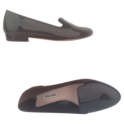 Miu Miu Lackleder-Slipper