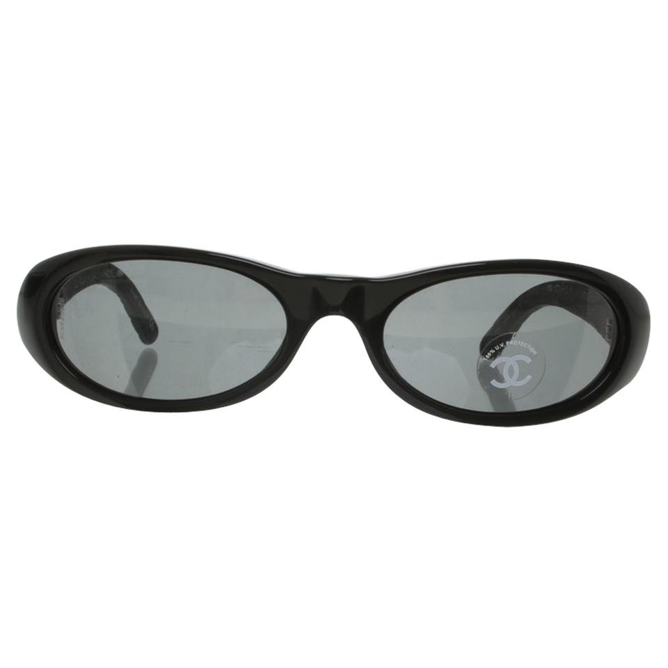 chanel sonnenbrille mit lederb geln second hand chanel. Black Bedroom Furniture Sets. Home Design Ideas