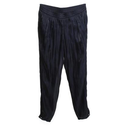 Marc Cain Elegante broek in donkerblauw