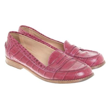 Tod's Fuchsia slippers