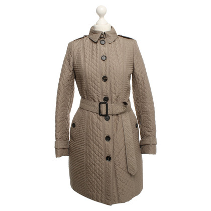 Burberry Quilted Coat in Khaki