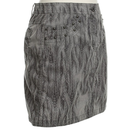 Marc Cain Cord-skirt with pattern