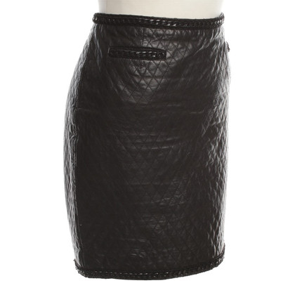 Marc Cain Leather skirt in black