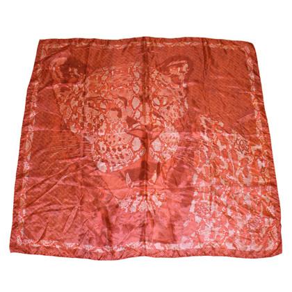 Roberto Cavalli Silk scarf with Tiger Motif