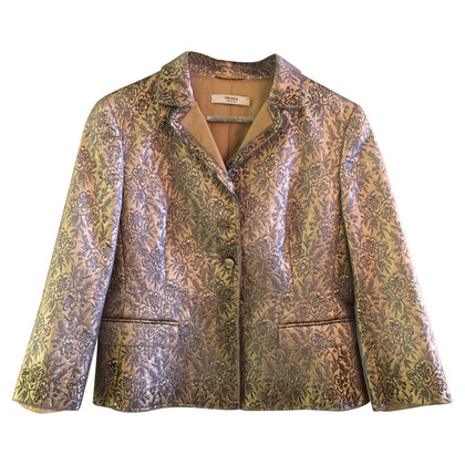 Prada giacca sportiva color oro con motivo