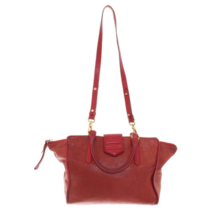 Marc by Marc Jacobs Lederen handtas in het rood