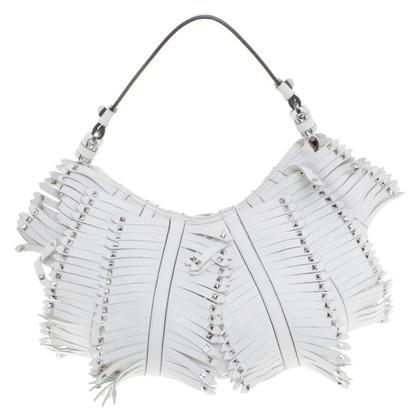Karen Millen Leather handbag in the fringe design