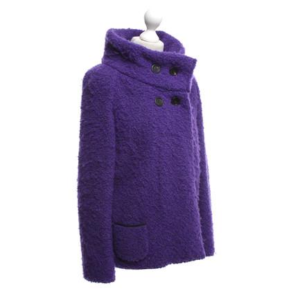 Marc Cain Bouclé jacket in purple