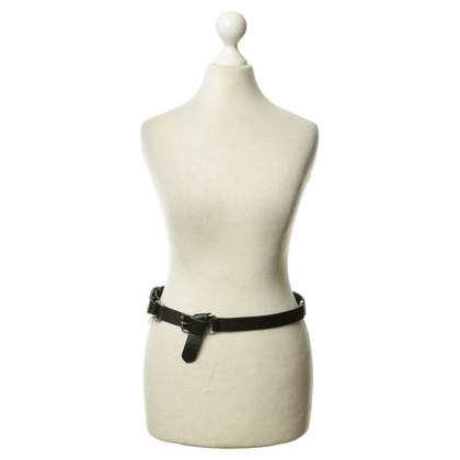 Ralph Lauren zwart lederen riem