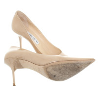 Jimmy Choo Lacquer leather-pumps in beige