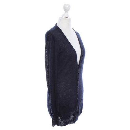 René Lezard Cardigan in Dark Blue