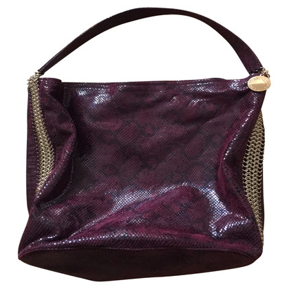Stella McCartney Borsa a spalla in look di rettile