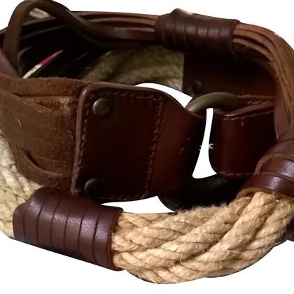 Dolce & Gabbana Belt touw en leer DOLCE E GABBANA