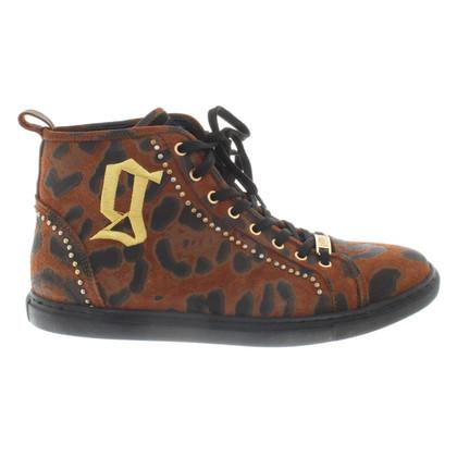 John Galliano High-Top-Sneakers mit Muster