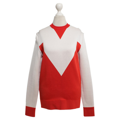 Céline Pullover in red / white