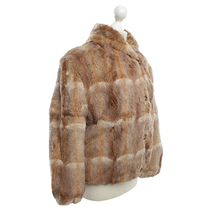 Marc Cain Fur jacket in beige