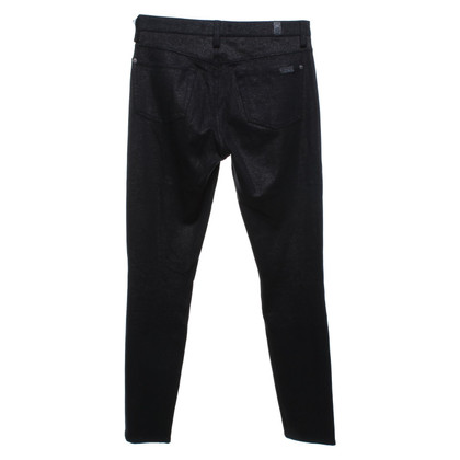 7 For All Mankind Jeggings in nero