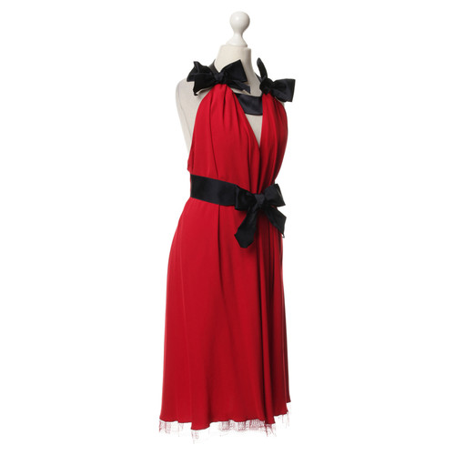 21ffc83cee45 Alexis Mabille Red dress with bows - Second Hand Alexis Mabille Red ...