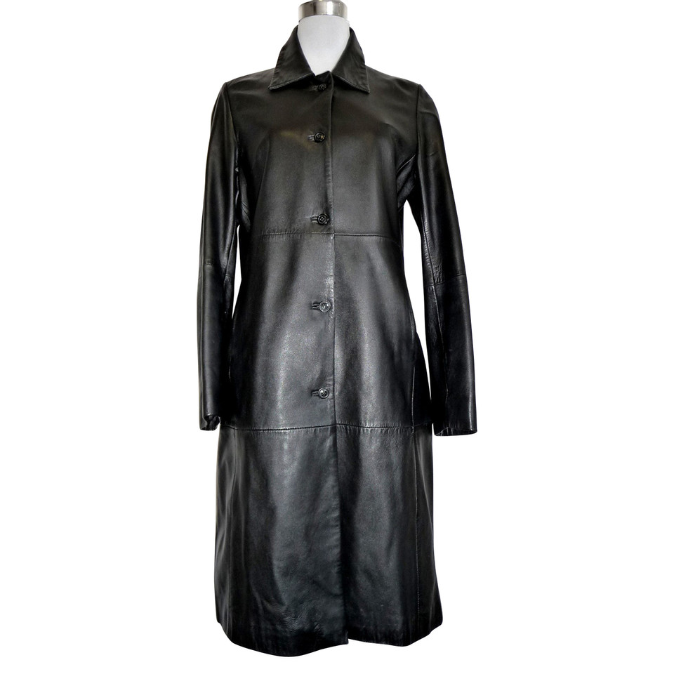 stefanel manteau de cuir acheter stefanel manteau de cuir second hand d 39 occasion pour 199 00. Black Bedroom Furniture Sets. Home Design Ideas