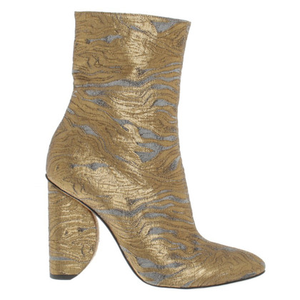 Dries van Noten Stivali con finitura metallizzata