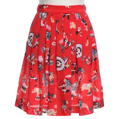 Missoni skirt with circus motif