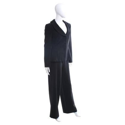 Armani Collezioni Anzug mit feinem Zick-Zack-Muster