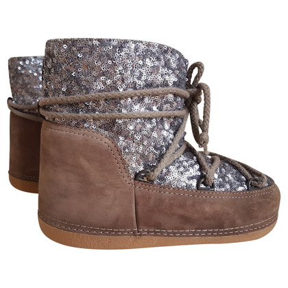 IKKII Brown boots with sequins