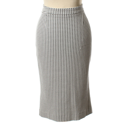 Piu & Piu Pencil skirt with Houndstooth pattern
