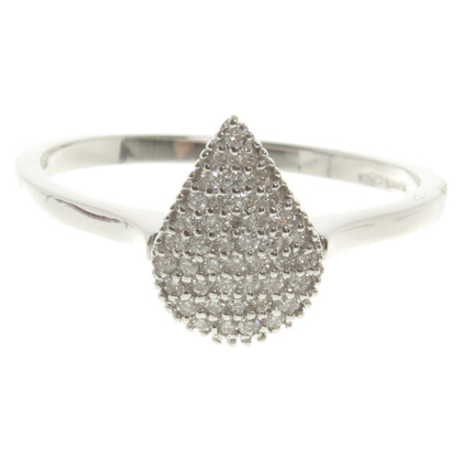Bliss White gold ring '' drop ''