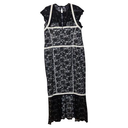 Chanel zwart witte lace dress