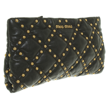 Miu Miu clutch with rivets