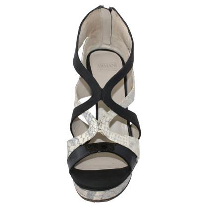Armani Sandalo stampa coccodrillo