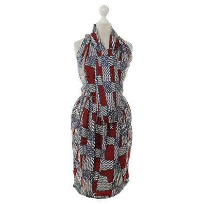 Dsquared2 Silk dress with pattern
