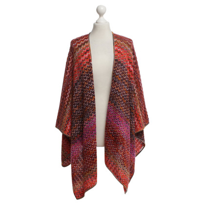 Missoni Knitted cape with pattern