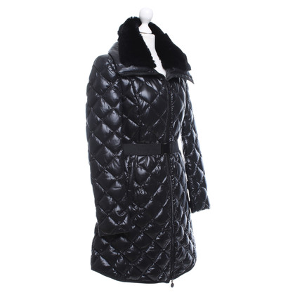 Moncler Quilted jacket with woven fur collar