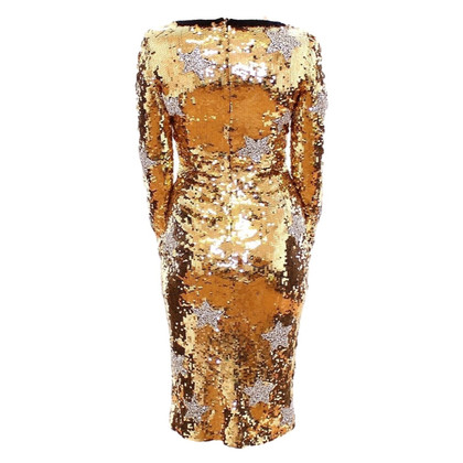 Dolce & Gabbana Jurk met gouden pailletten