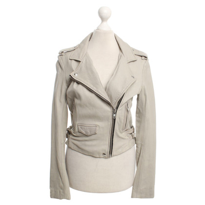 Iro Leather jacket in beige