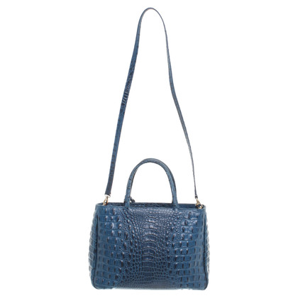 Furla Embossed leather handbag