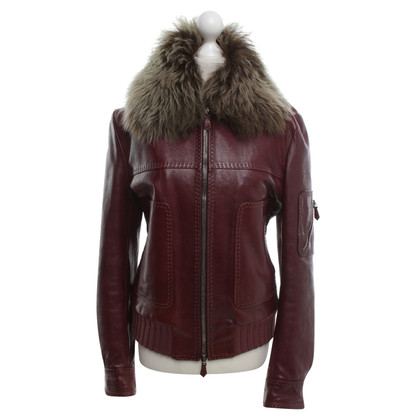 Emilio Pucci Leather Jacket in Bordeaux