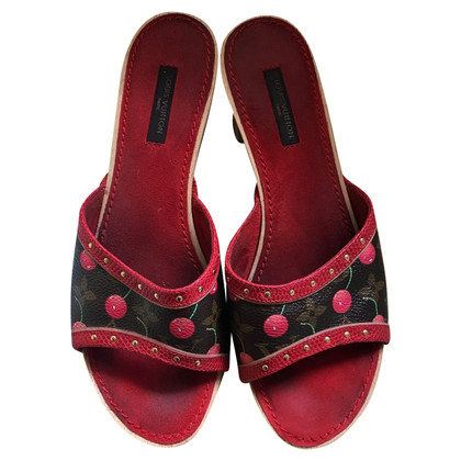 Louis Vuitton Mules in Monogram Cerises
