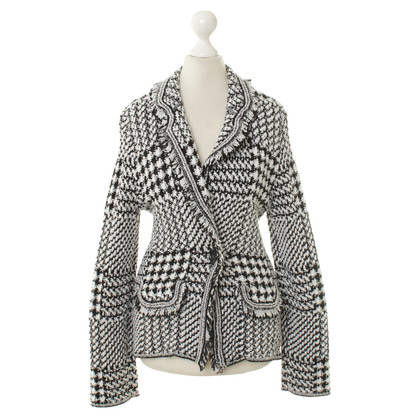 Marc Cain Jacket with pattern in black and white