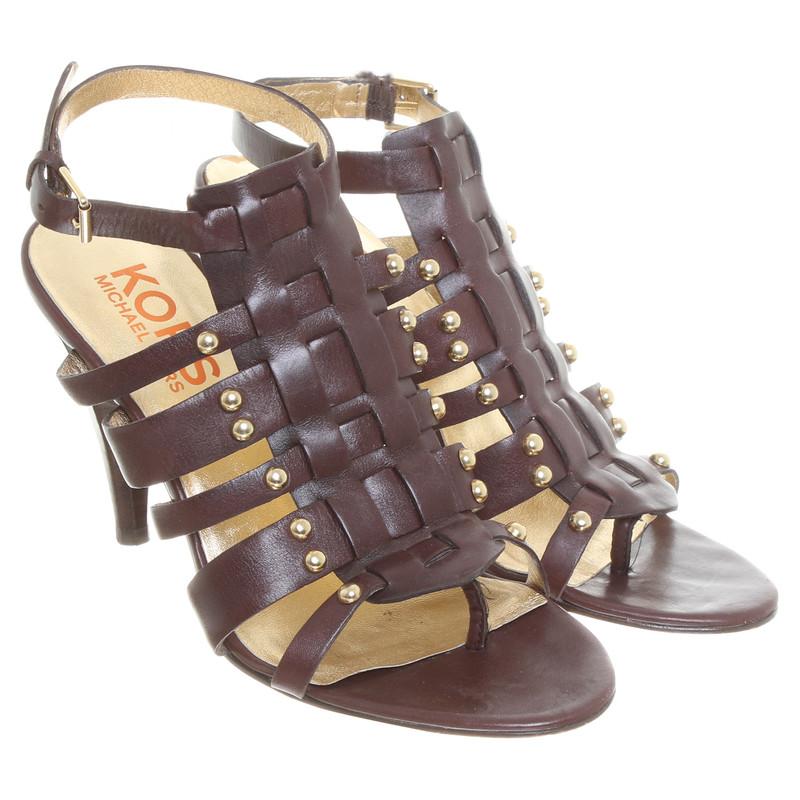 michael kors sandaletten mit nietendetails second hand michael kors sandaletten mit. Black Bedroom Furniture Sets. Home Design Ideas