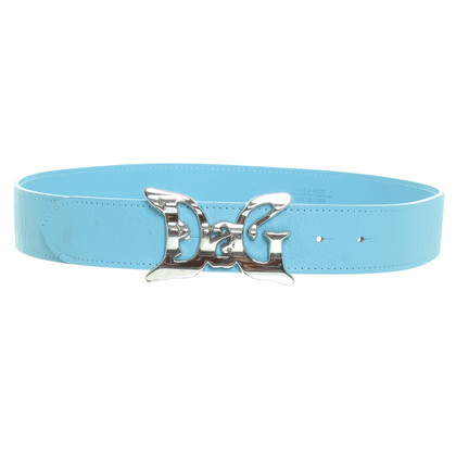 D&G Leather belt with logo buckle